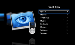 Screenshot of Front Row EyeTV